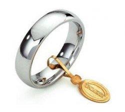Unoaerre Comfortable Wedding Ring 5 mm White gold