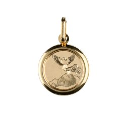 Medaglia Ciondolo da Battesimo Oro Giallo GL100023