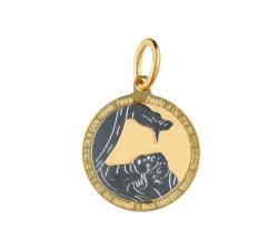 Medaglia Ciondolo da Battesimo Oro Giallo GL100024