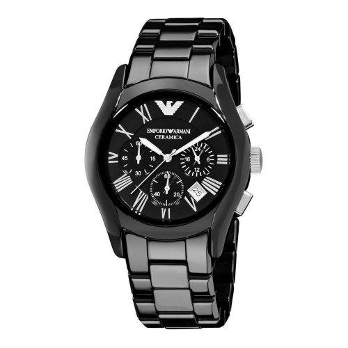 Emporio Armani men's watch in black ceramic AR1400