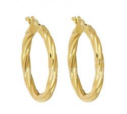 Women's Hoop Earrings in Yellow Gold 803321724293