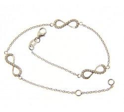 181014 Infinity White Gold Women's Bracelet