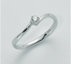 Yukiko solitaire woman ring in 750 gold LID2716Y