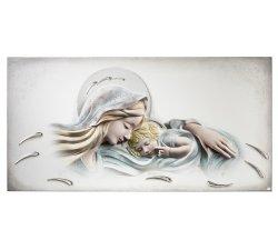 Quadro Acca Argenti Madonna con Bambino e Carezze del Cielo QS.895M