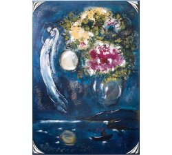 Painting Acca Argenti Chagall and the flowers 60DG.1
