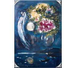 Quadro Acca Argenti Chagall e i fiori 60DG.1