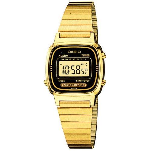 CASIO women's watch LA670WGA-1DF Steel PVD gold gilt Vintage