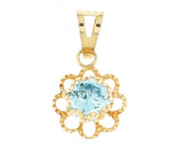 Women's pendant light point Yellow gold 803321717221