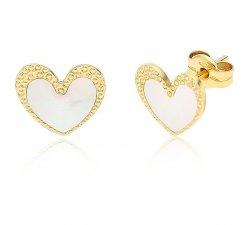 Women's Yellow Gold Heart Earrings 197269
