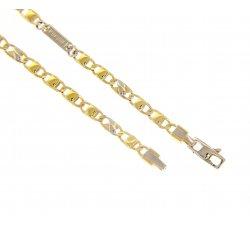 Bracciale Uomo in Oro Giallo e Bianco MFN303GB19