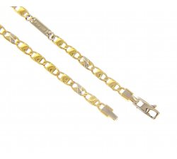 Men's Bracelet in Yellow and White Gold MFN303GB19