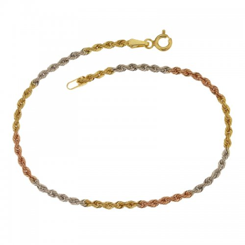 Three-color gold bracelet for women 803321703120