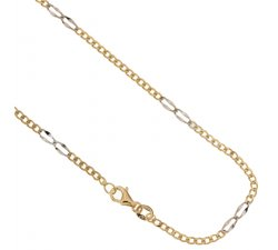 Yellow and White Gold Men's Necklace 803321717443