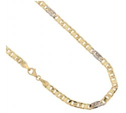 Yellow and White Gold Men's Necklace 803321712336
