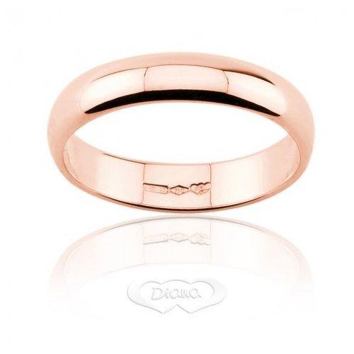 Fedi Nuziali > Fede Nuziale Diana 5 grammi Oro rosa Classica Fascia