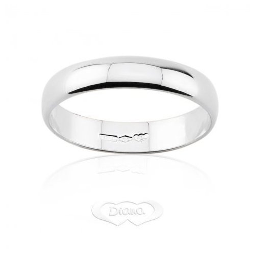 DIANA Wedding Ring 3 grams White Gold Classic Wide Band