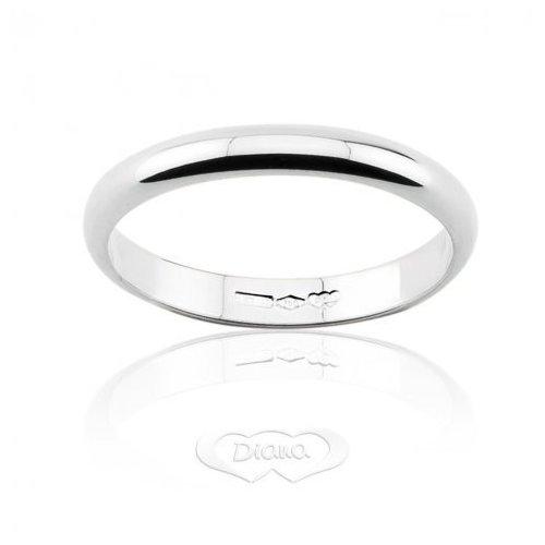 DIANA Classic Wedding Ring 3 grams White gold narrow band