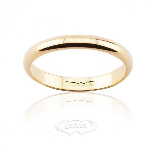Diana fede fedina matrimonio oro Bianco 18 kt grammi 3 diamante 0.03 matrimonio