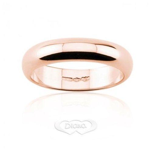 Fede Nuziale Diana 7 grammi Oro rosa Classica Fascia Larga