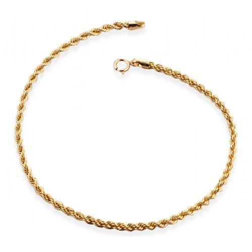 Yellow gold women's bracelet 803321704542