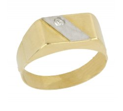 Men's Ring in White and Yellow Gold 803321715404