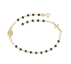 Miraculous Madonna Yellow Gold Rosary Bracelet 803321736932