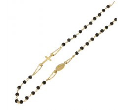 Miraculous Madonna Yellow Gold Rosary Necklace 803321716837