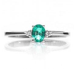 Anello Promesse Gioielli Donna Diamanti Smeraldo FASM1