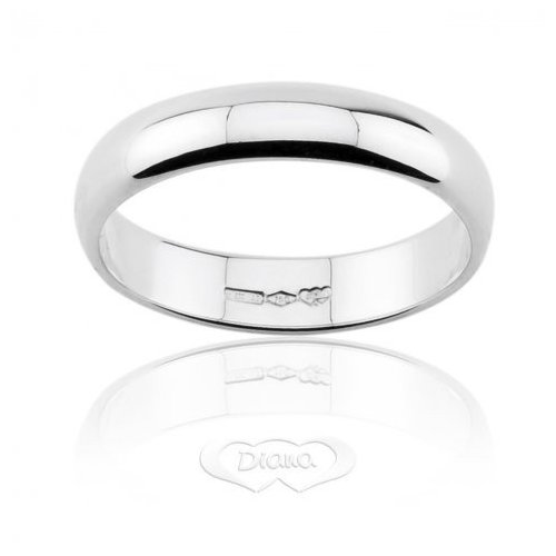 DIANA Wedding Ring 5 grams White Gold Classic Wide Band