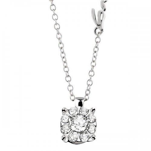 Collana punto luce Salvini in oro bianco e diamanti collezione Daphne