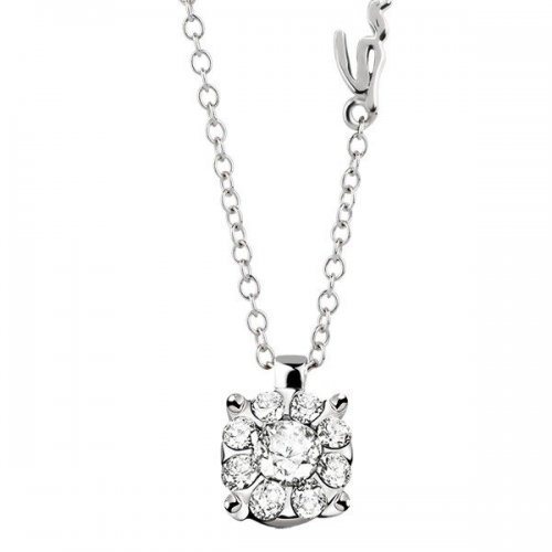 Salvini light point necklace in white gold and diamonds Daphne collection