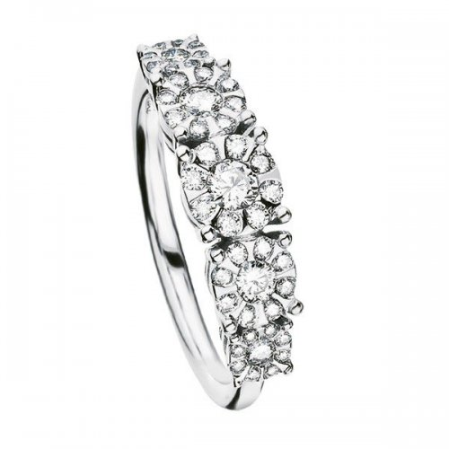 Salvini eternity ring in white gold and diamonds Daphne collection