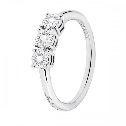 Salvini trilogy ring in white gold and diamonds Daphne Chic collection