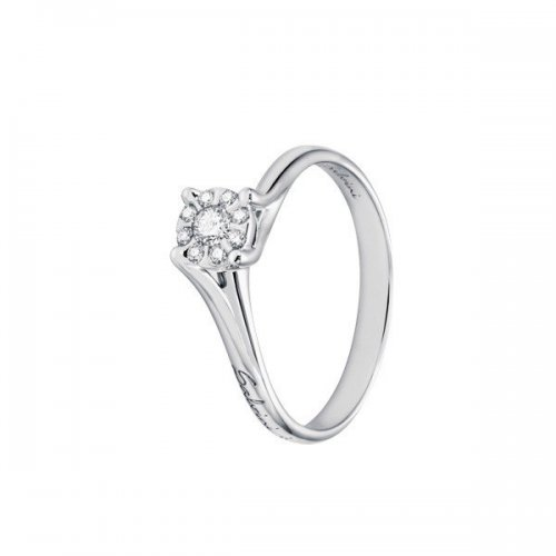 Salvini solitaire ring in white gold and diamonds Daphne Solitaire collection
