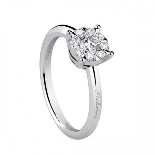 Salvini solitaire ring in white gold and diamonds Daphne collection