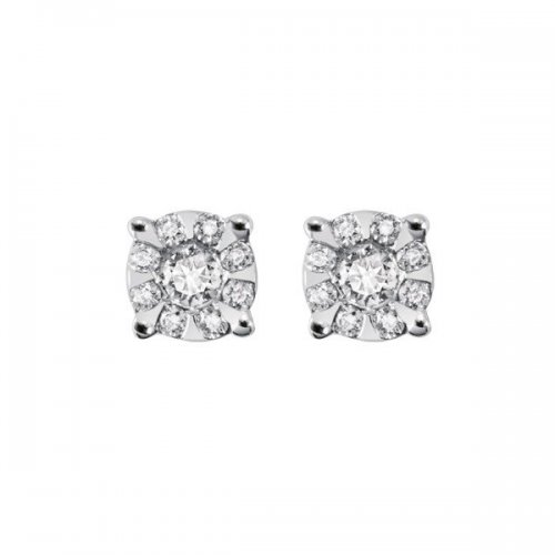 Salvini light point earrings white gold and diamonds Daphne Miss 20057696