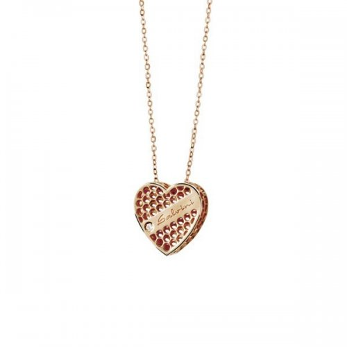 Salvini heart necklace in 9kt rose gold Golden Cage collection 20064604