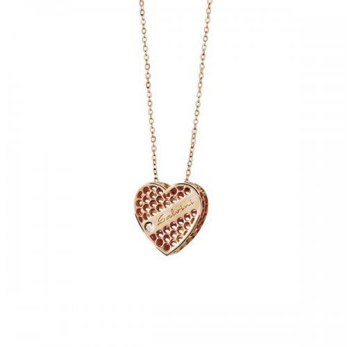 Collier cuore Salvini in oro rosa 9kt collezione Golden Cage 20064604