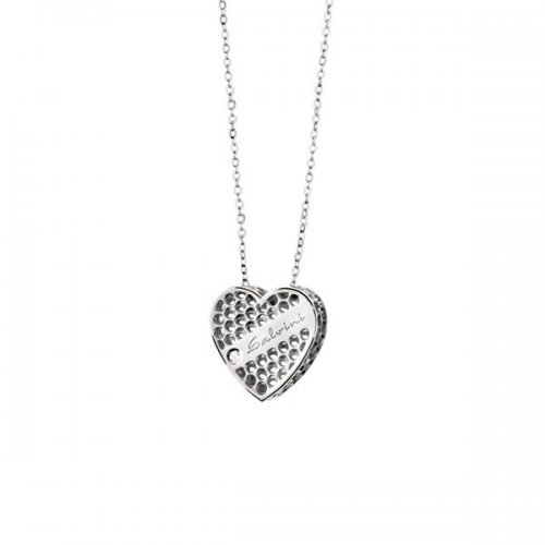 Salvini heart necklace in 9kt white gold Golden Cage collection 20064603