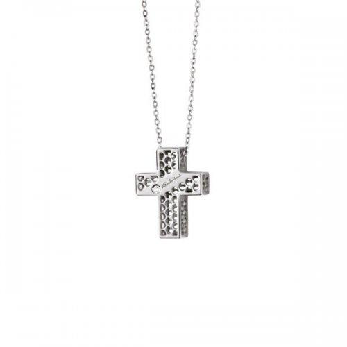 Collier croce Salvini in oro bianco 9kt collezione Golden Cage 20064600