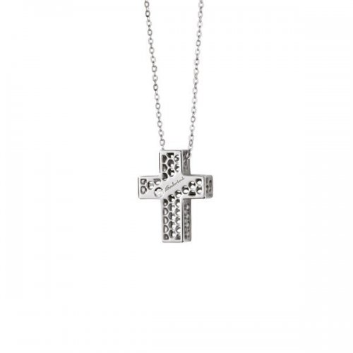 Salvini cross necklace in 9kt white gold Golden Cage collection 20064600