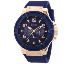 Orologio Guess da uomo Collezione Rigor W0247G3 in gomma blu