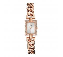 Orologio Guess da donna in acciaio oro rosa Glamour Chain W0540L3