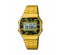 Orologio CASIO Unisex Vintage A168WEGC-3EF dorato camouflage