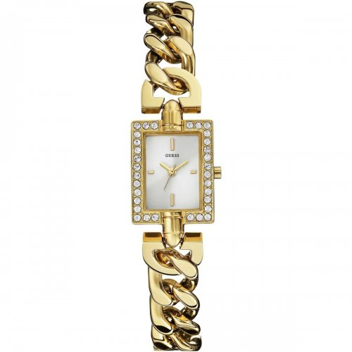 Guess women's watch in golden steel Glamor Chain W0540L2