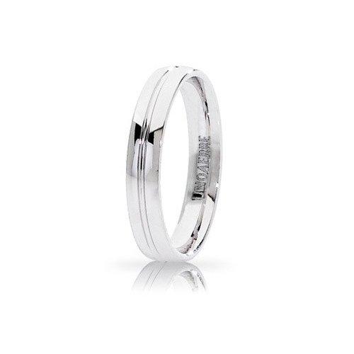 Unoaerre Lyra Wedding Ring White Gold Brilliant Promises