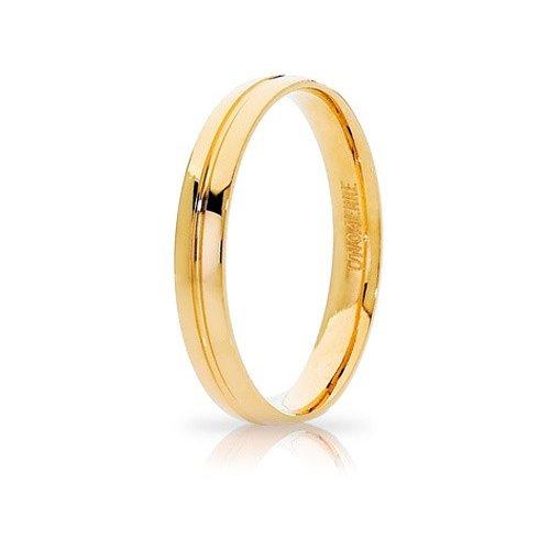 Unoaerre Lyra Wedding Ring Yellow Gold Brilliant Promises