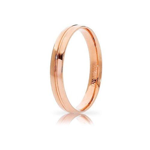 Unoaerre Lyra Wedding Ring Rose Gold Brilliant Promises