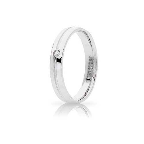Unoaerre Lyra Wedding Ring White Gold with Diamond Brilliant Promises
