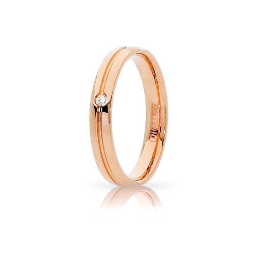 Unoaerre Lyra Wedding Ring Rose Gold with Diamond Brilliant Promises